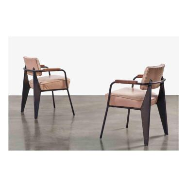 """View 1. Thumbnail of Lot 91. Pair of """"Direction"""" Armchairs, Model No. 352."""