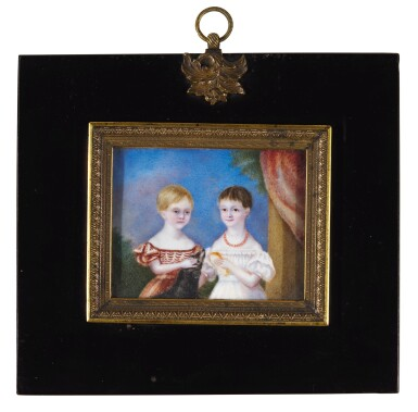 View 1. Thumbnail of Lot 267. Jane Austen's great nieces and nephews; the children of Sir Edward Knatchbull, 9th Bt (1781-1849) and his second wife Fanny, née Knight, formerly Austen (1793-1882).