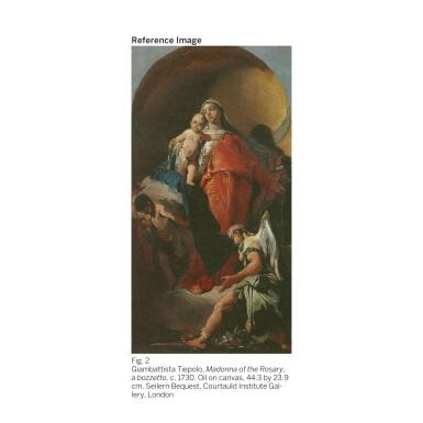 View 3. Thumbnail of Lot 61.  GIOVANNI BATTISTA TIEPOLO |  MADONNA OF THE ROSARY WITH ANGELS.