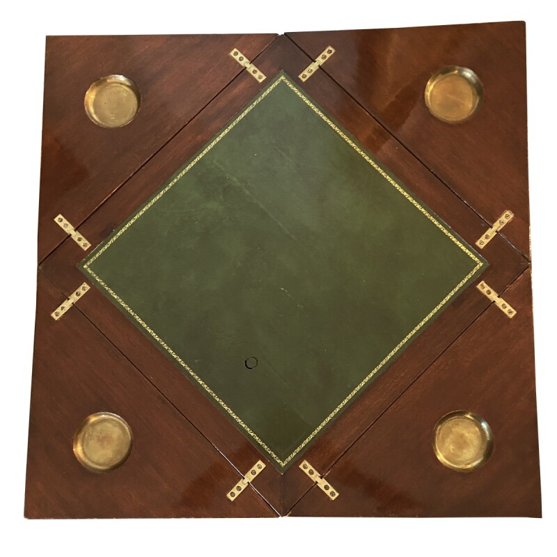 Georgian Style Crossbanded Games Table