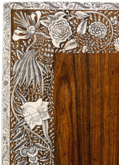 View 8. Thumbnail of Lot 175. AN ANGLO-INDIAN IVORY INLAID ROSEWOOD WRITING OR DRESSING TABLE, VIZAGAPATAM, MID-18TH CENTURY.