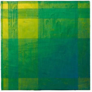View 1. Thumbnail of Lot 41. Geometric Blue/ Green.