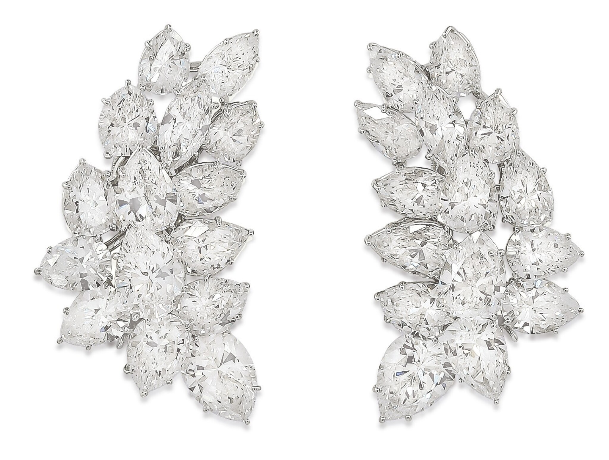 View full screen - View 1 of Lot 56. HARRY WINSTON | PAIR OF DIAMOND EARCLIPS.