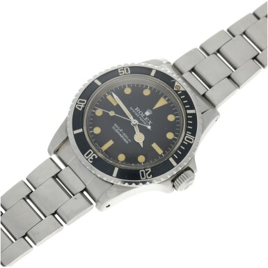 View 6. Thumbnail of Lot 286. REFERENCE 5513 SUBMARINER A STAINLESS STEEL AUTOMATIC WRISTWATCH WITH BRACELET, CIRCA 1977.