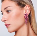 PAIR OF RUBY AND ENAMEL EAR CLIPS, MICHELE DELLA VALLE