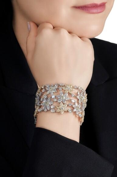 View 4. Thumbnail of Lot 15. Diamond bracelet.