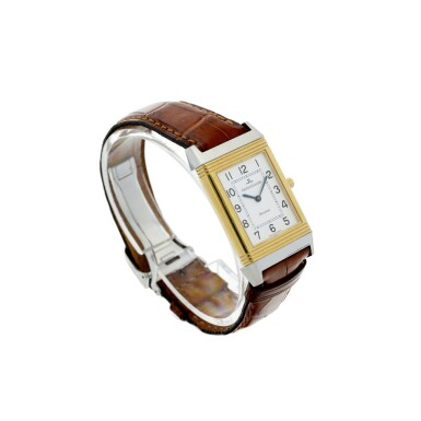 View 3. Thumbnail of Lot 244. REFERENCE 250.5.86 REVERSO CLASSIQUE A YELLOW GOLD AND STAINLESS STEEL REVERSIBLE WRISTWATCH, CIRCA 1995.