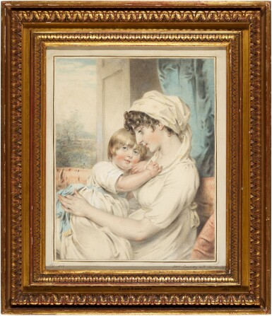 View 2. Thumbnail of Lot 204. Portrait of Mrs Townley and her son.