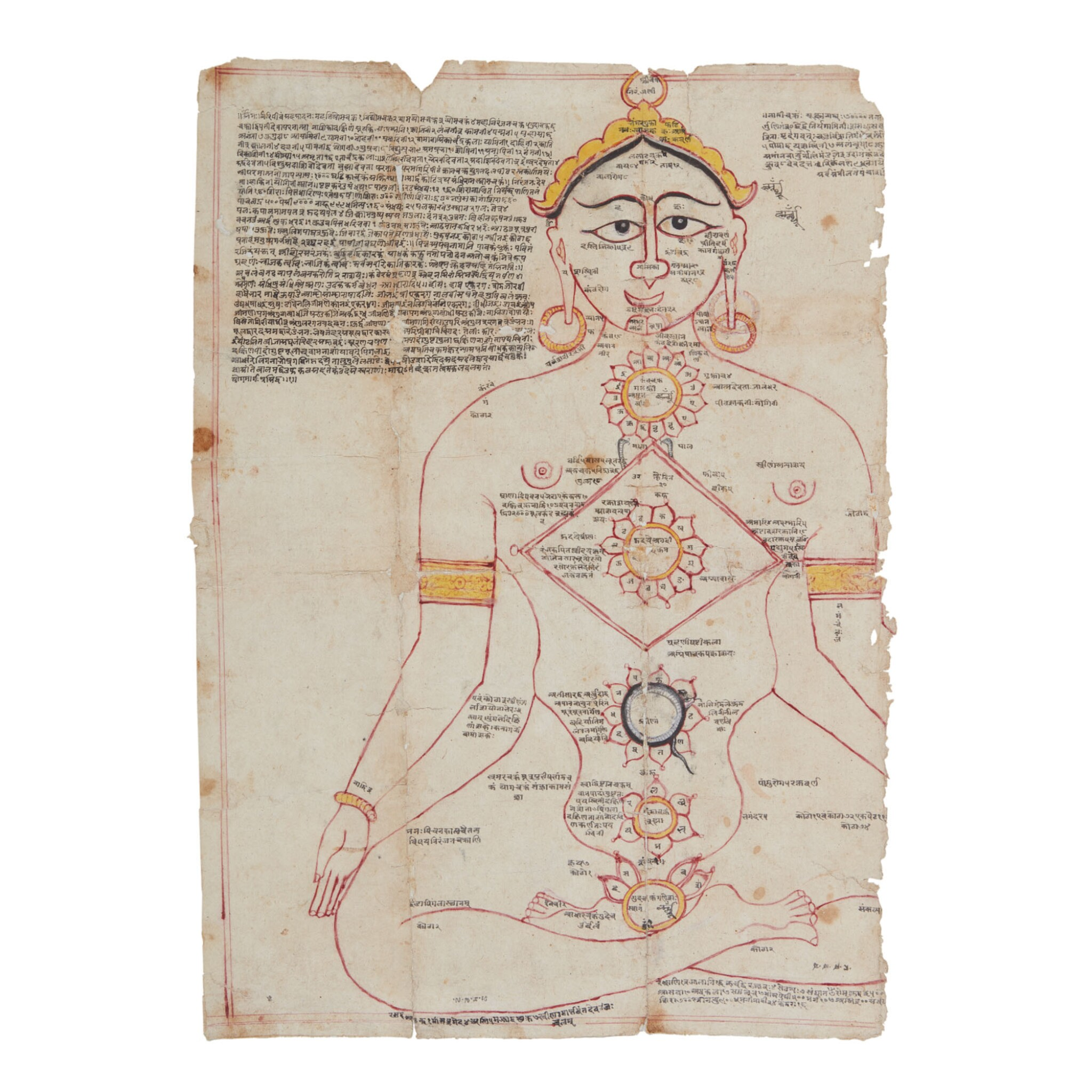 View full screen - View 1 of Lot 359.  A JAIN TANTRIC DIAGRAM,   WESTERN INDIA, CIRCA 18TH CENTURY.
