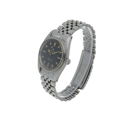View 2. Thumbnail of Lot 35. 'James Bond Small Crown' Submariner, Ref. 6536/1 Stainless steel wristwatch with bracelet Circa 1955   勞力士6536/1型號「'James Bond Small Crown' Submariner」精鋼鍊帶腕錶,年份約1955.