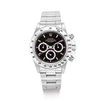 "ROLEX  | COSMOGRAPH DAYTONA, REFERENCE 16520  A STAINLESS STEEL CHRONOGRAPH WRISTWATCH WITH BRACELET, CIRCA 1988"" | 勞力士 | Cosmograph Daytona 型號16520 精鋼計時鏈帶腕錶,錶殼編號L347898,約1988年製"""