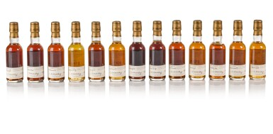 View 5. Thumbnail of Lot 20. The Macallan Fine & Rare Miniature Collection (38 bt).