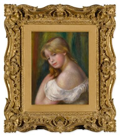 View 2. Thumbnail of Lot 9. Buste de jeune femme à l'épaule nue (Jeune fille à sa toilette).