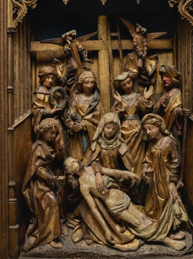 View 2. Thumbnail of Lot 105. Retable with the Lamentation.