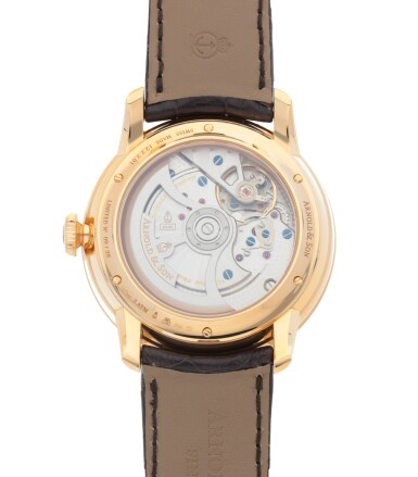 View 4. Thumbnail of Lot 557. ARNOLD & SON   'INDIAMEN', REF 12.2.3.01, PINK GOLD WRISTWATCH WITH DEAD SECONDS AND HAND PAINTED MOTHER-OF-PEARL DIAL   CIRCA 2013.