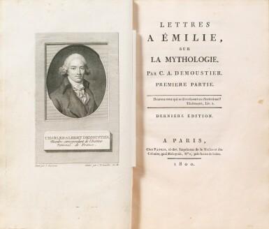 View 3. Thumbnail of Lot 19. Lettres à Émilie... Paris, 1800. 3 tomes in-8. Bel exemplaire de Joséphine Bonaparte relié par Bradel..