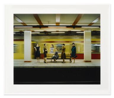 View 2. Thumbnail of Lot 46. EVE SUSSMAN   WOMEN IN THE S-BAHN (FROM THE RAPE OF THE SABINE WOMEN).