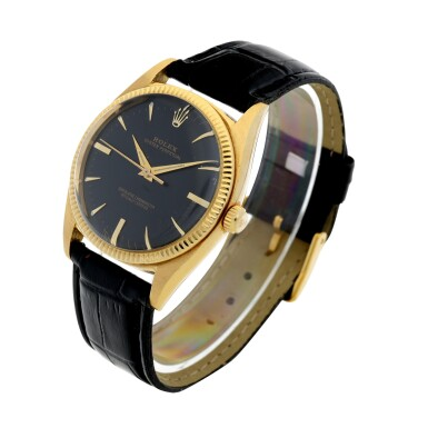 View 2. Thumbnail of Lot 99. ROLEX | REFERENCE 1013 OYSTER PERPETUAL A YELLOW GOLD AUTOMATIC WRISTWATCH, CIRCA 1966.
