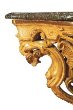 A RÉGENCE CARVED GILTWOOD CONSOLE, FIRST QUARTER 18TH CENTURY