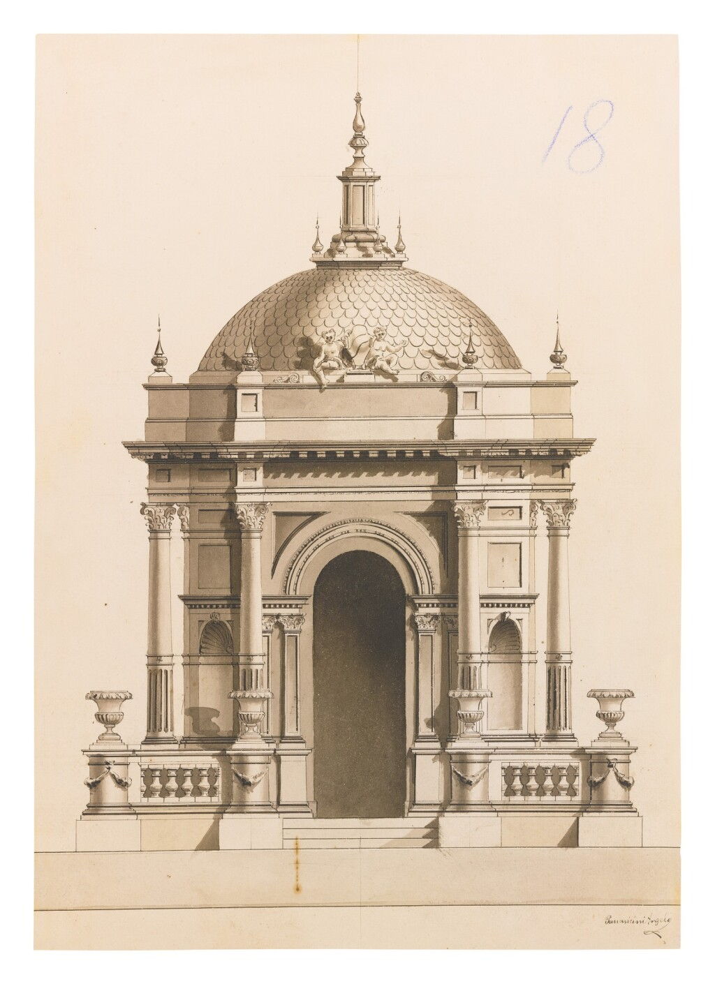 ANGELO PARRAVICINI   PROJECT FOR A MONUMENT