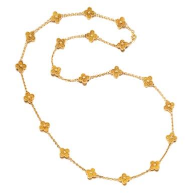 VAN CLEEF & ARPELS | 'VINTAGE ALHAMBRA' GOLD NECKLACE   梵克雅寶 | 'Vintage Alhambra' 18K黃金項鏈