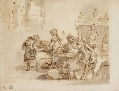 ENGLISH SCHOOL, CIRCA 1780 | A family engaged in music and play