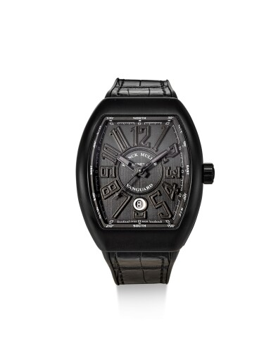 FRANCK MULLER | VANGUARD, REFERENCE TT NR BR NR A DLC-COATED TITANIUM WRISTWATCH WITH DATE, CIRCA 2017