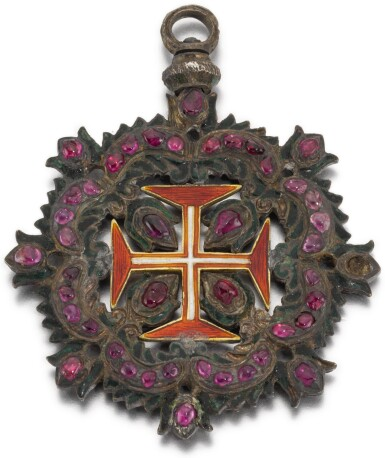 PROBABLY SPANISH, CIRCA 1700 | Pendant with the Cross of the Military Order of Christ