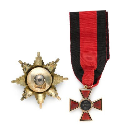View 2. Thumbnail of Lot 75. The Order of St Vladimir, set of insignia, Second Class, St Petersburg, circa 1900.