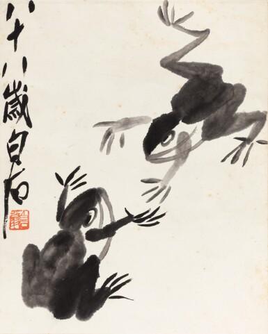 View 1. Thumbnail of Lot 151. Qi Baishi (1864-1957) Grenouilles | 齊白石 雙蛙圖 | Qi Baishi (1864-1957) Frogs.