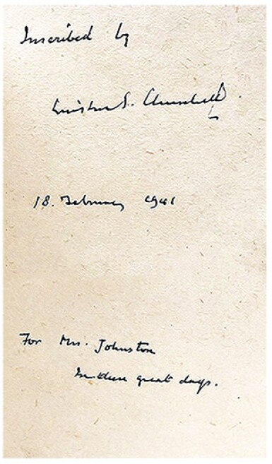 View 1. Thumbnail of Lot 55. Winston S. Churchill | The War Speeches. London: Cassell and Co., 1941-1946.