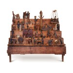 OUTSTANDING COLLECTION OF TWENTY-THREE WHIMSICAL MECHANICAL CARVINGS, 19TH CENTURY