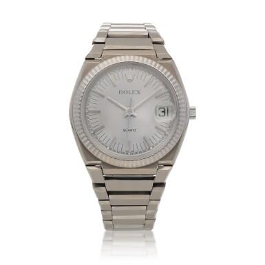 View 1. Thumbnail of Lot 427. 'The Texan' Quartz, Ref. 5100 BETA 21 White gold wristwatch with date and bracelet Circa 1970 | 勞力士 5100 BETA 21型號「'The Texan' Quartz」白金鍊帶腕錶備日期顯示,年份約1970.