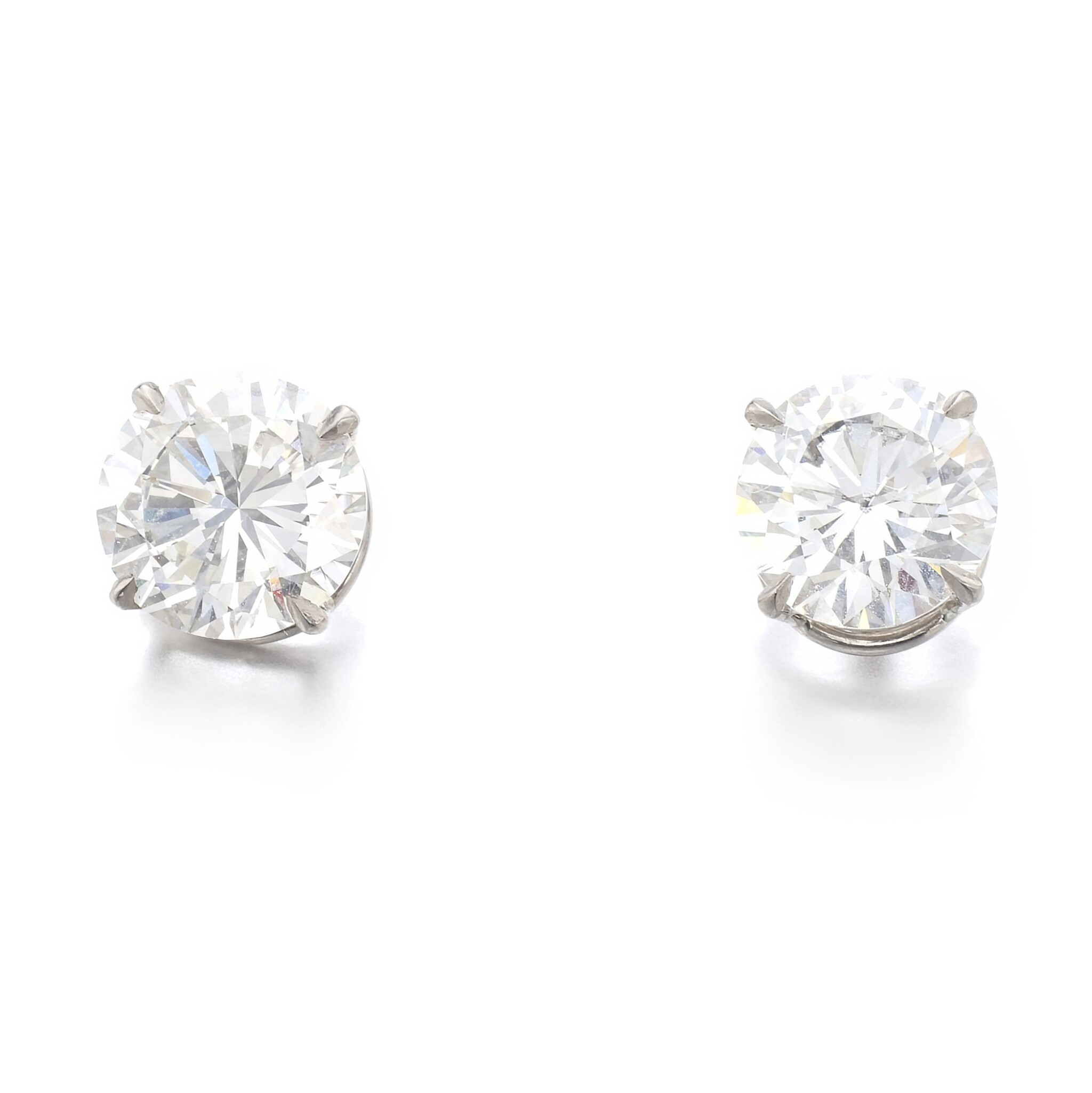 View full screen - View 1 of Lot 1172. Pair of diamond ear studs.