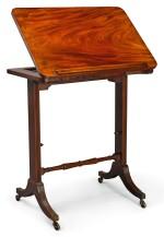 A REGENCY EBONY STRUNG MAHOGANY METAMORPHIC READING TABLE, CIRCA 1815