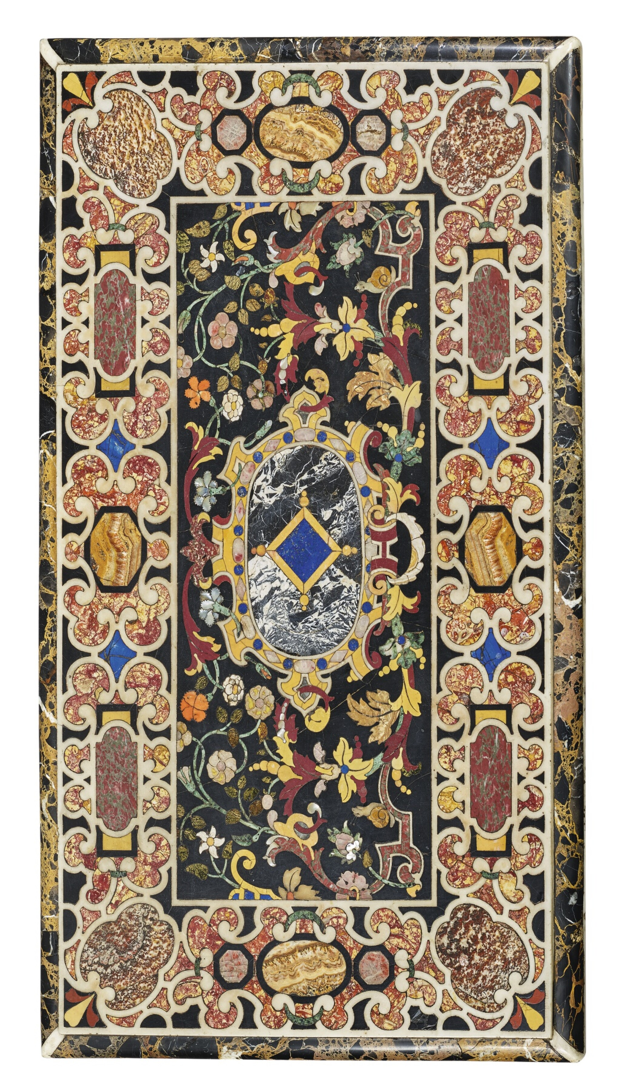 View full screen - View 1 of Lot 848. AN ITALIAN BAROQUE COMMESSO DI PIETRE DURE PANEL, ATTRIBUTED TO THE GRAND DUCAL WORKSHOPS, FLORENCE, EARLY 17TH CENTURY.