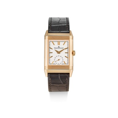 JAEGER-LECOULTRE   REVERSO, REFERENCE 213.2.D4, A PINK GOLD DUAL TIME ZONE REVERSIBLE WRISTWATCH WITH DAY AND NIGHT INDICATION, CIRCA 2019