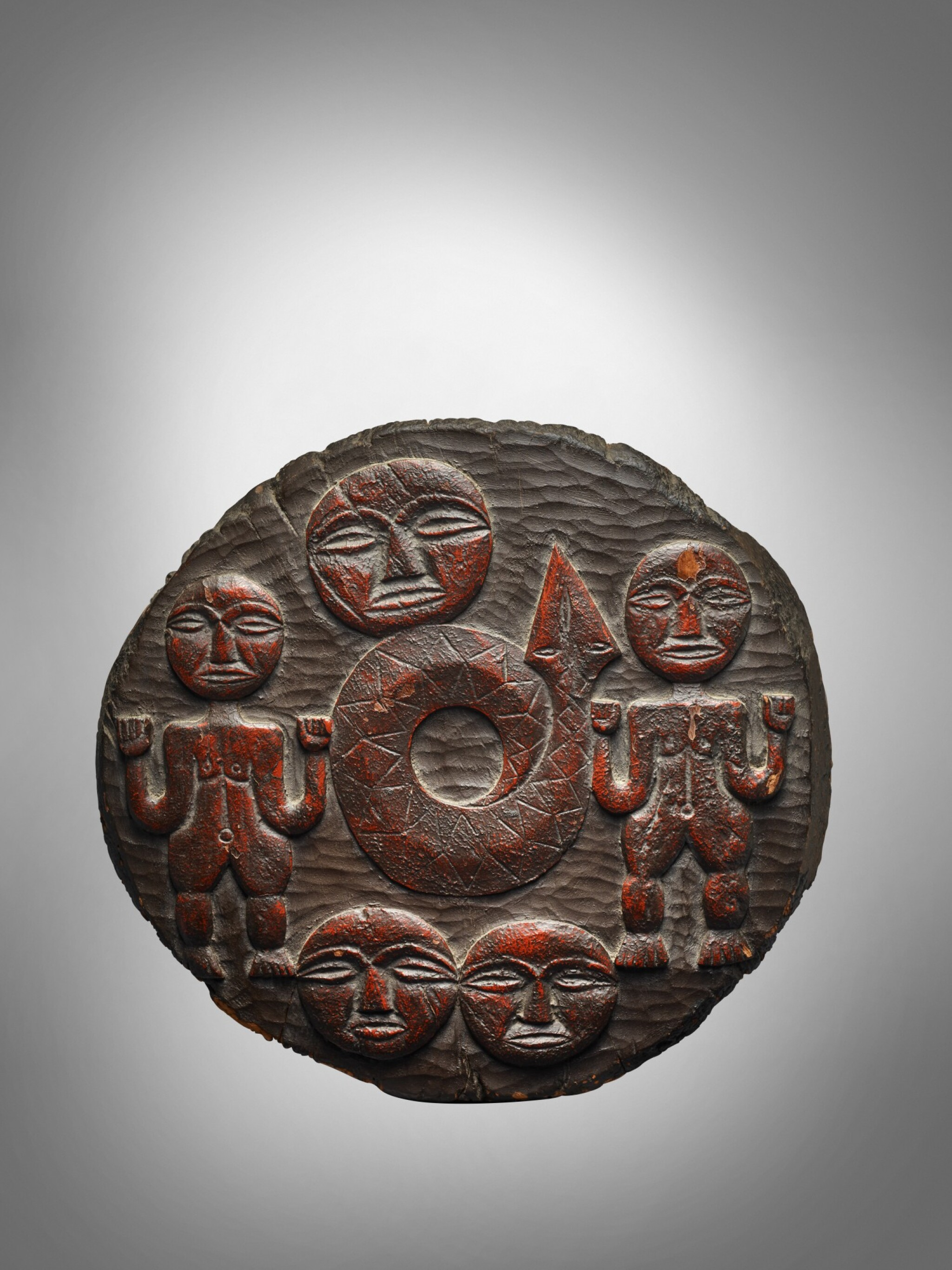 View full screen - View 1 of Lot 35. Paiwan Container Lid, Taiwan.