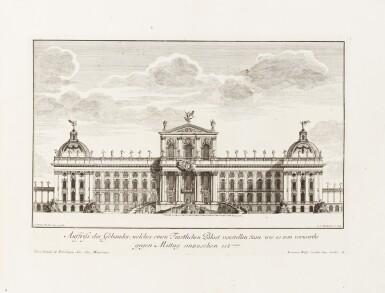 View 3. Thumbnail of Lot 55. Fürstlicher Baumeister... Augsbourg, 1711-1716. In-folio oblong. Edition originale.