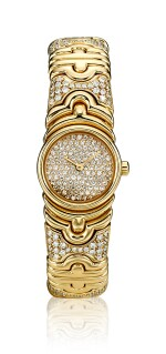 GOLD AND DIAMOND WRISTWATCH, 'PARENTESI', BULGARI | K金 配 鑽石 腕錶, 'Parentesi', 寶格麗﹙Bulgari )