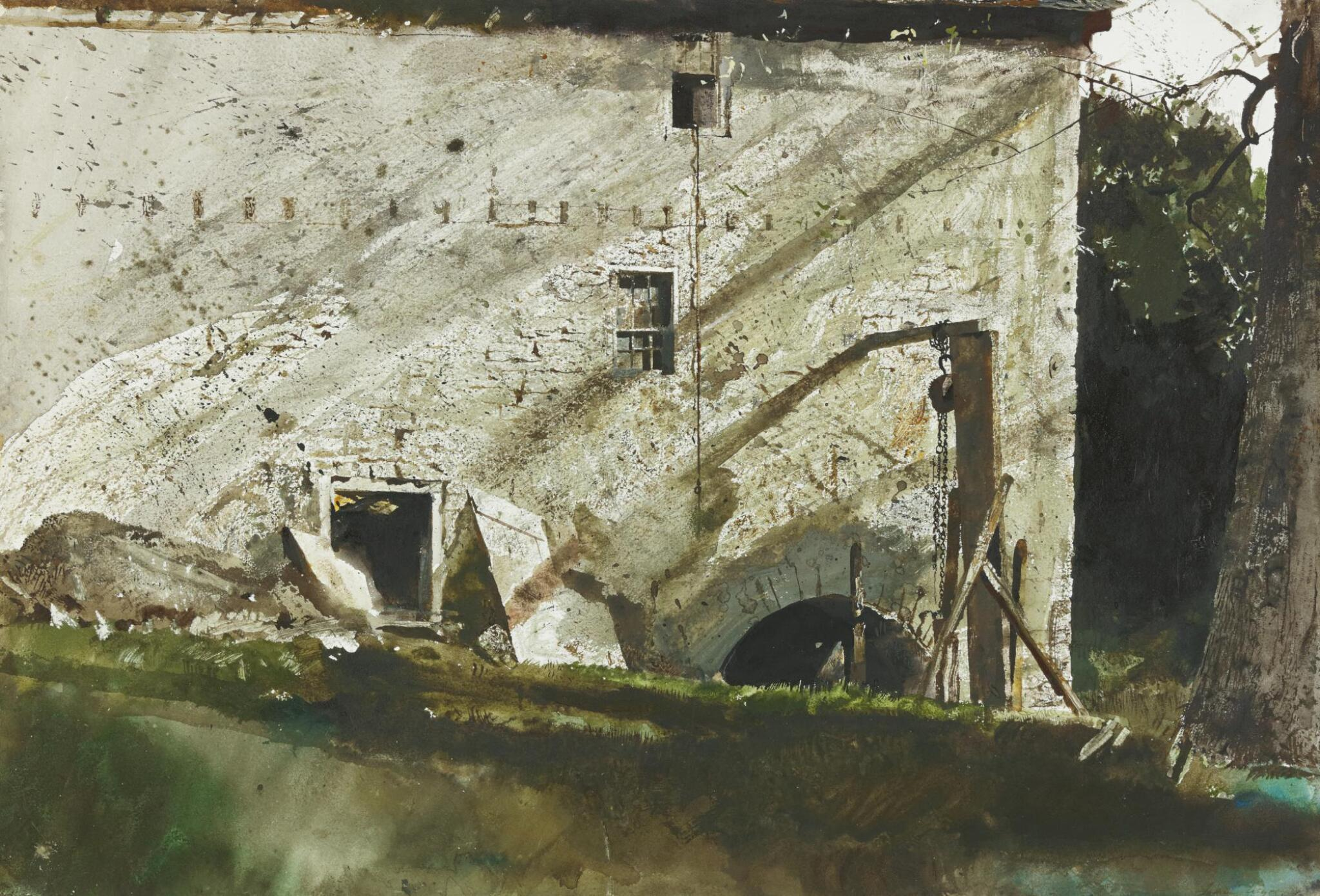 View full screen - View 1 of Lot 59. ANDREW WYETH   CHAIN HOIST.