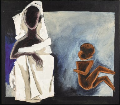 MAQBOOL FIDA HUSAIN    UNTITLED (CHILDREN OF CALCUTTA)