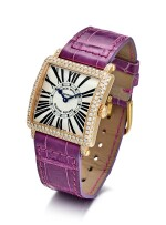 FRANCK MULLER | MASTER SQUARE, REFERENCE 6002 L QZ D, A PINK GOLD AND DIAMOND-SET WRISTWATCH, CIRCA 2009