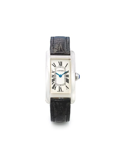 CARTIER | REF 1713 TANK AMERICAINE, A WHITE GOLD RECTANGULAR SHAPED WRISTWATCH CIRCA 2007