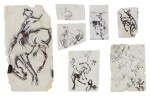 Untitled (Seven Drawings of a Horse and Rider)