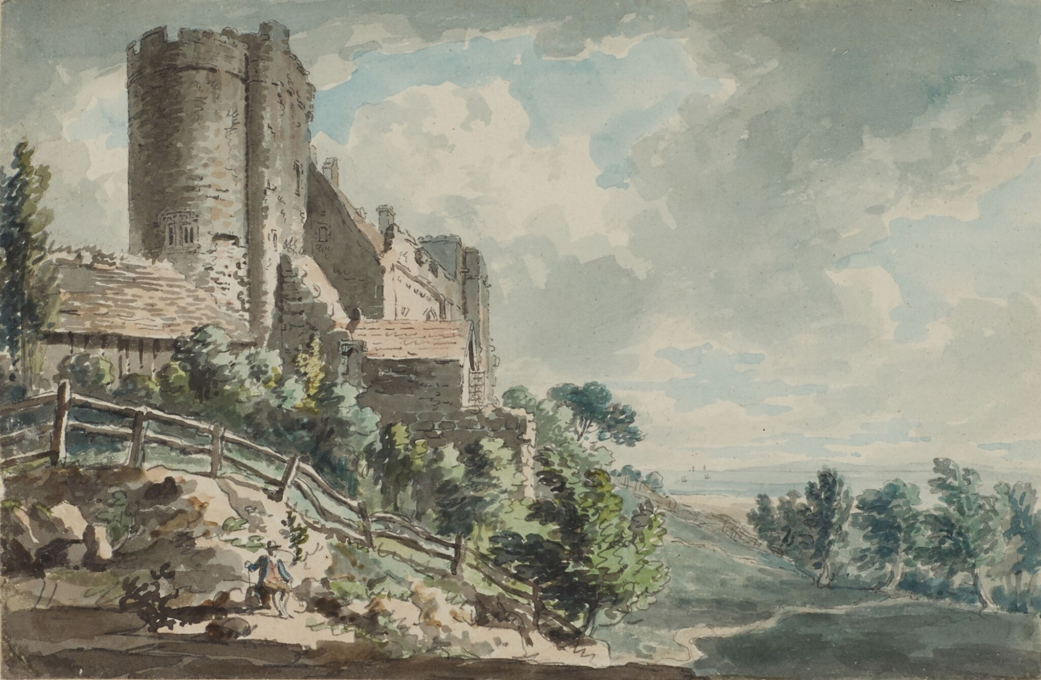 View full screen - View 1 of Lot 589. EDWARD DAYES | Lympne Castle, Kent.