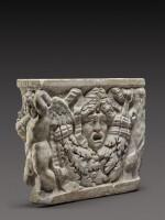 A Roman Marble Garland Sarcophagus Fragment, circa A.D. 135