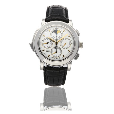 IWC | GRANDE COMPLICATION REF 3770-03, LIMITED EDITION PLATINUM AUTOMATIC MINUTE-REPEATING PERPETUAL CALENDAR CHRONOGRAPH WRISTWATCH WITH MOON PHASES CIRCA 2003