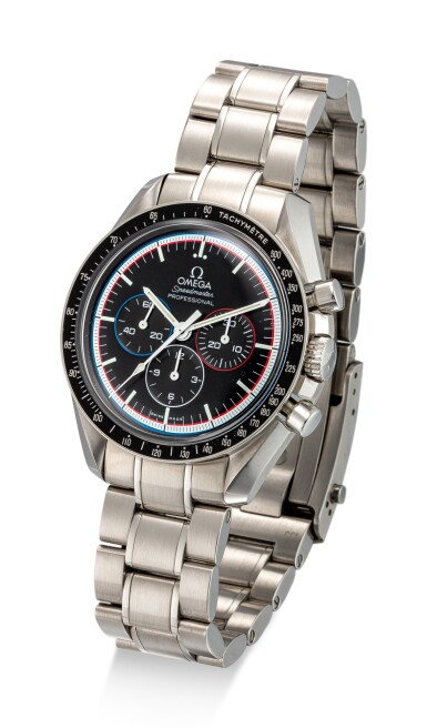 """View 2. Thumbnail of Lot 8102. OMEGA   SPEEDMASTER PROFESSIONAL MOONWATCH, REFERENCE 311.30.42.30.01.003   A LIMITED EDITION STAINLESS STEEL CHRONOGRAPH WRISTWATCH WITH BRACELET, MADE TO COMMEMORATE THE 40TH ANNIVERSARY OF """"APOLLO 15"""" MISSION, CIRCA 2011   歐米茄   超霸系列專業月球錶 型號311.30.42.30.01.003   限量版精鋼計時鏈帶腕錶,為紀念阿波羅15任務40週年而製,約2011年製."""