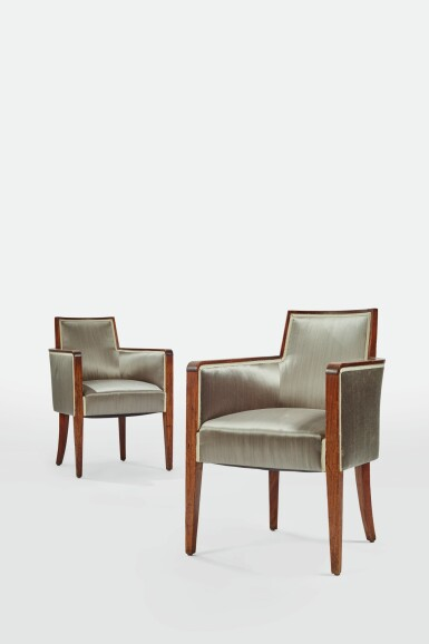 IN THE STYLE OF DOMINIQUE | PAIR OF ARMCHAIRS